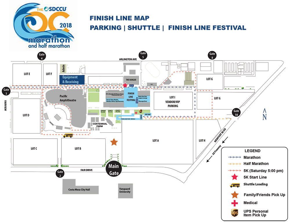 Parking and Directions - SDCCU OC Marathon | OC Half